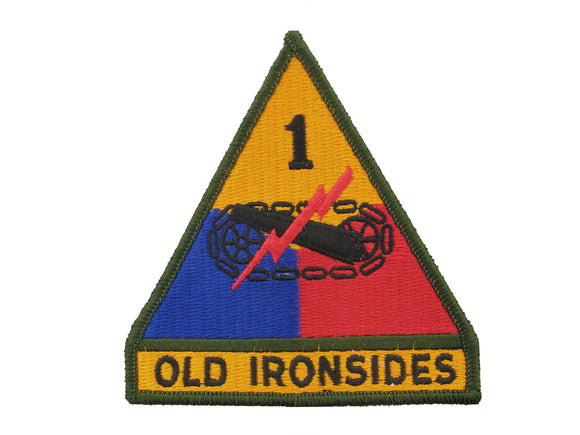 1ST ARMORED DIVISION FULL COLOR REGULAR DRESS PATCH | SEW ON  | SOLD INDIVIDUALLY