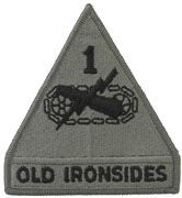1ST ARMORED DIVISION ARMY ACU PATCH W/ HOOK AND LOOP | SOLD IN PAIRS