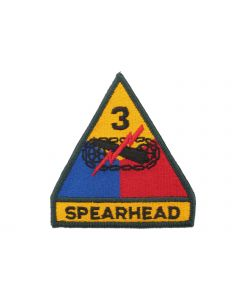 3rd Armored Division Spearhead Regular | Full Color Embroidered Sew On Patch | Sold individually