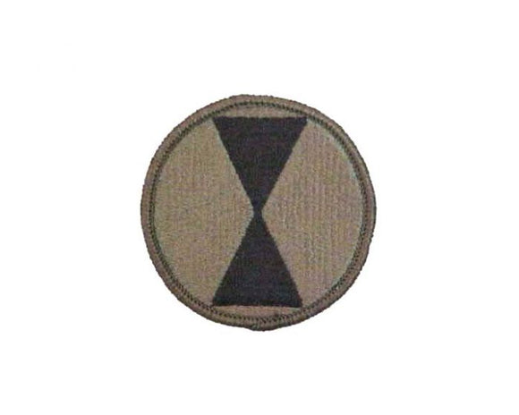 7th Infantry Division Subdued |Embroidered Patch | Sold individually