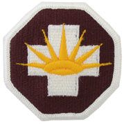8th Medical Brigade Regular | Full Color Embroidered Sew On Patch | Sold individually