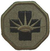 8th Medical Brigade Subdued |Embroidered Patch | Sold individually