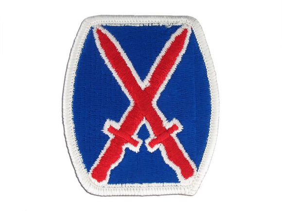 10th Mountain Infantry Division Army Patch Regular | Full Color Embroidered Sew On Patch | Sold individually