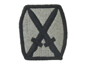 10th Mountain Infantry Division Army Patch ACU | Embroidered Patch with Hook and Loop