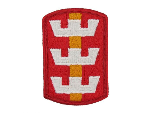 130th Engineer Brigade Army Patch Regular| Full Color Sew On Military Uniform Patch| Sold Individually