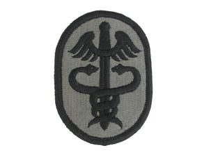 US ARMY HEALTH SERVICES COMMAND SUBDUED ACU W/ HOOK AND LOOP PATCH