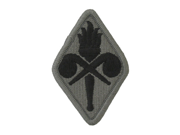 US ARMY CHEMICAL SCHOOL ACU ARMY PATCH W/ HOOK AND LOOP