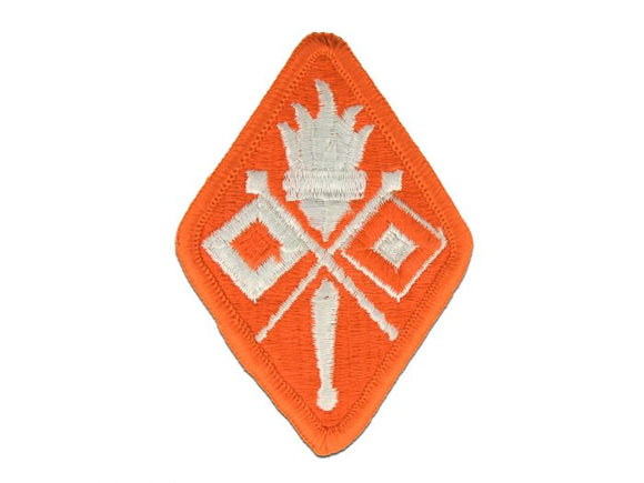Signal Training School Army Patch Regular | Full Color Orange and White Embroidered Sew On Patch | Sold Individually