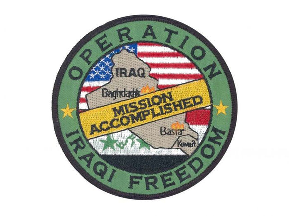 Operation Iraqi Freedom Army Patch Regular | Full Color Sew On Military Uniform Patch| Sold Individually