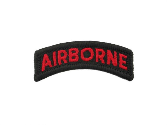 Airborne Red Black Army Tab Sew On | Sold Individually