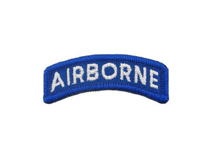 Airborne Blue White Army Tab Sew On | Sold Individually