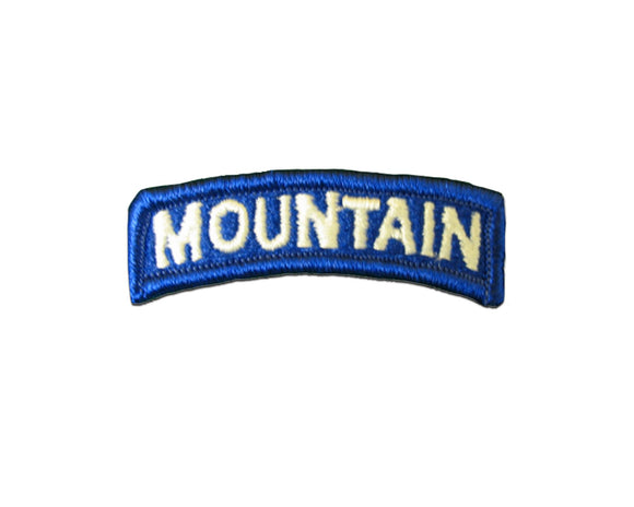 Mountain 10Th Infantry Color Army Tab Sew On | Sold Individually