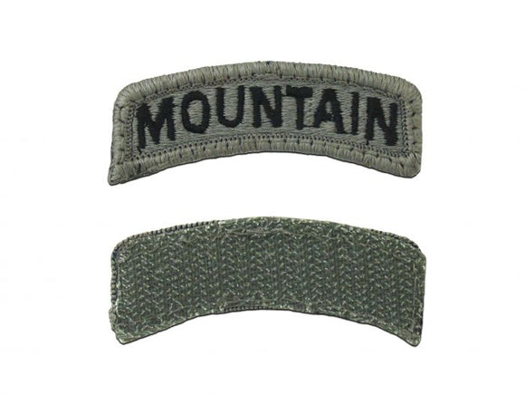 ARMY TAB - MOUNTAIN 10TH INFANTRY W/ HOOK AND LOOP - Sold in Pairs