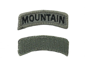 ARMY TAB - MOUNTAIN 10TH INFANTRY SUBDUED - Sew on Tab