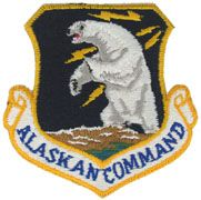 Alaskan Command Regular Air Force Patch - Full Color Embroidered Sew On Patch