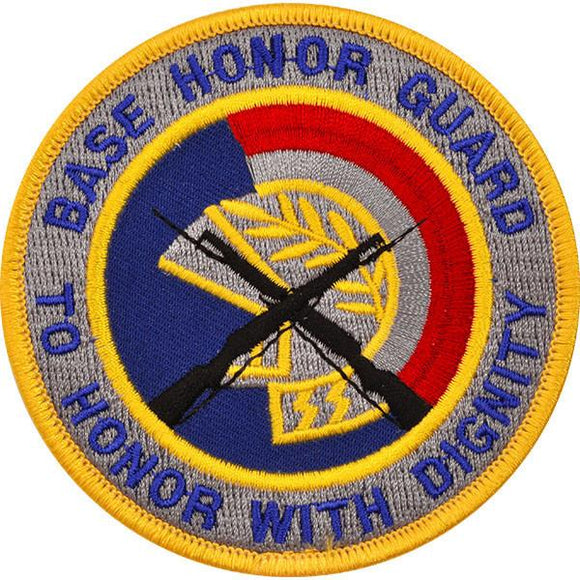 Base Honor Guard To Honor With Dignity Patch