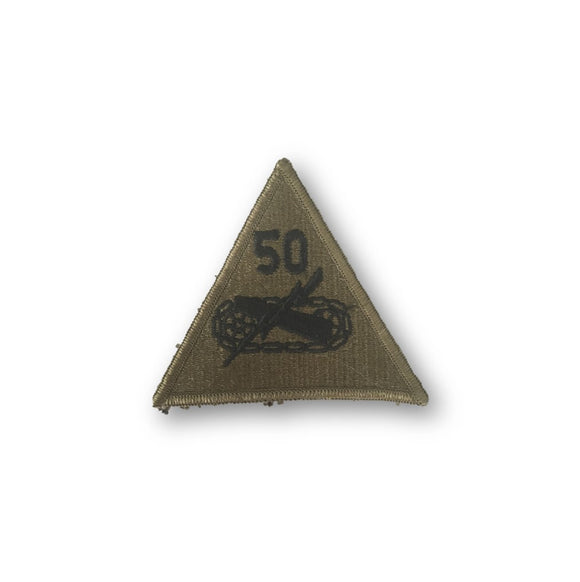 50th ARMORED TANK DIVISION - SEW ON PATCH - VINTAGE 70's Issue