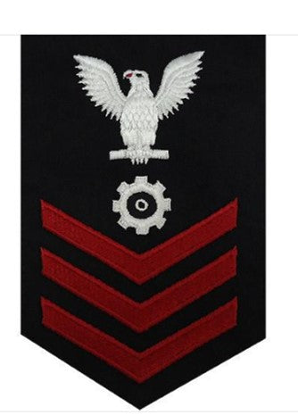 NAVY E6 MALE RATING BADGE: ENGINEMAN - BLUE