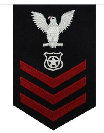 NAVY E6 MALE RATING BADGE: MASTER AT ARMS - BLUE | SOLD NDIVIDUALLY