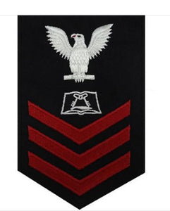 NAVY E6 MALE RATING BADGE: CULINARY SPECIALIST - BLUE SERG