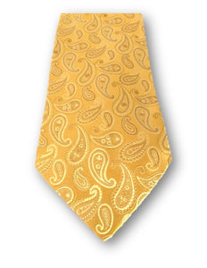 Joseph A Bank Signature Collection Necktie, Gold Paisley Tie, Silk