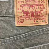 LEVIS 550 Mens Relaxed Fit Green Jeans Size 34x32