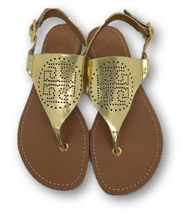 TORY BURCH Gold Sandal Model A70A Size 6.5 M