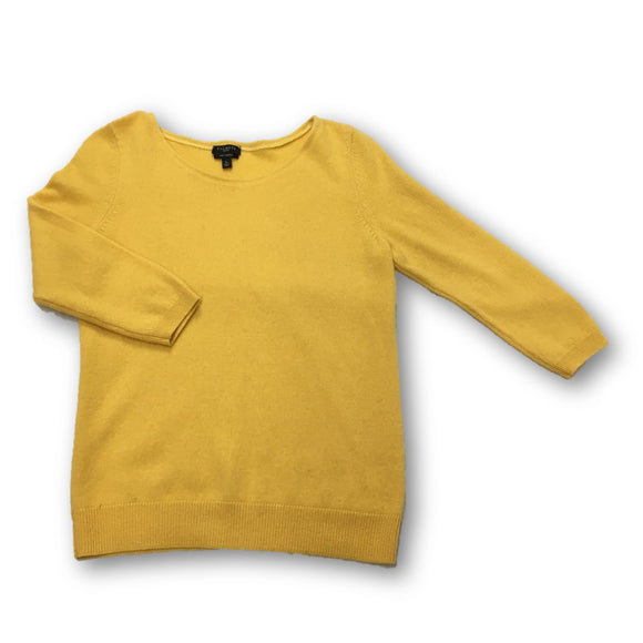TALBOTS - Yellow Gold Cashmere Sweater for Women Size Small Petite