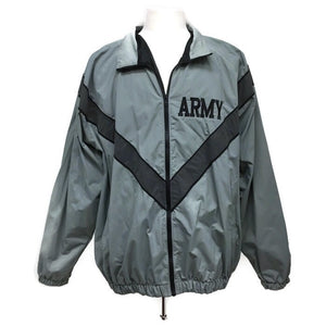 ARMY Physical Fitness Training Jacket Old School Gray - Size Large/Long