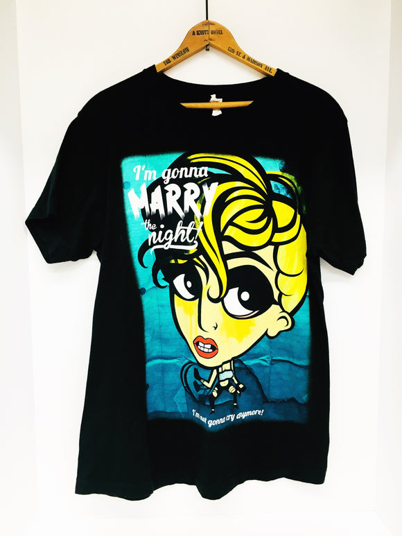 LADY GAGA Marry The Night 2013 US Tour Official Black T Shirt Size M