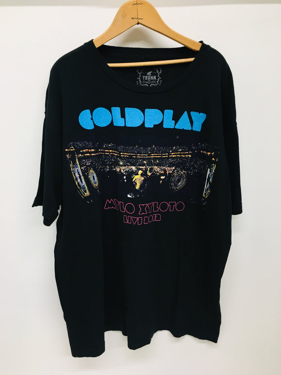 COLD PLAY CONCERT T SHIRT - 2012 Mylo Xyloto - Black Size XL