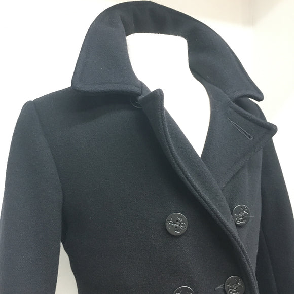 SCHOTT NYC US 740 Peacoat - BLACK Size 34 - Mens Coat