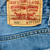 LEVIS 505 Jeans for Men - Vintage Light Wash Jeans Size 29x34