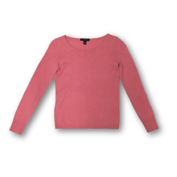 LANDS END - Pink Cashmere Sweater for Women Size Extra Small