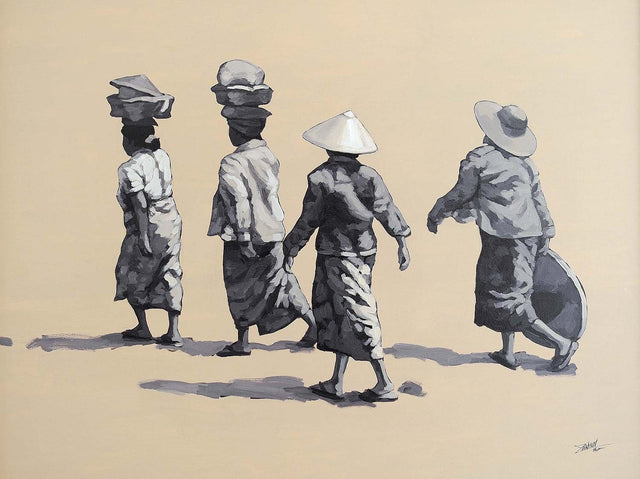 Going home|Zaw Min- Acrylic on Canvas, 2015, 32 x 40 inches