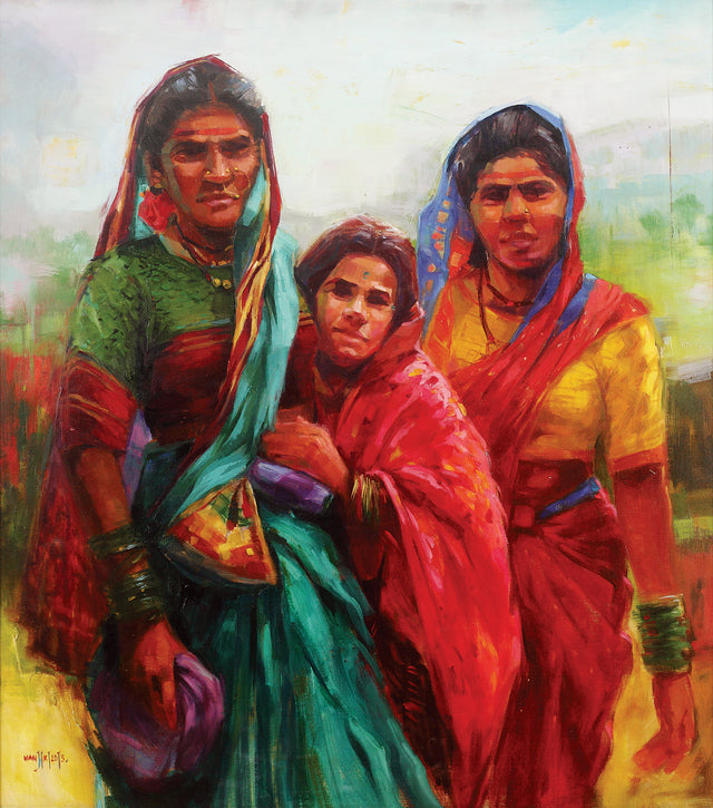 Tigji|Manjiri More- Oil on Canvas, 2013, 34 x 36 inches
