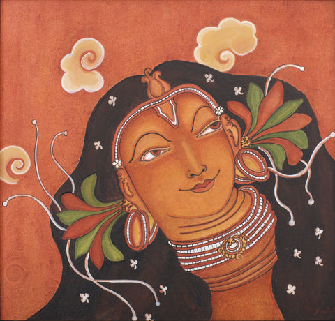 Radha Mukham|Pooja Kashyap- Acrylic on  Canvas, 2018, 28 x 23 inches