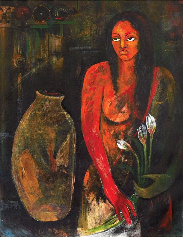Memories|Poonam Chandrika Tyagi- Acrylic on Canvas, 2008, 48 x 36 inches