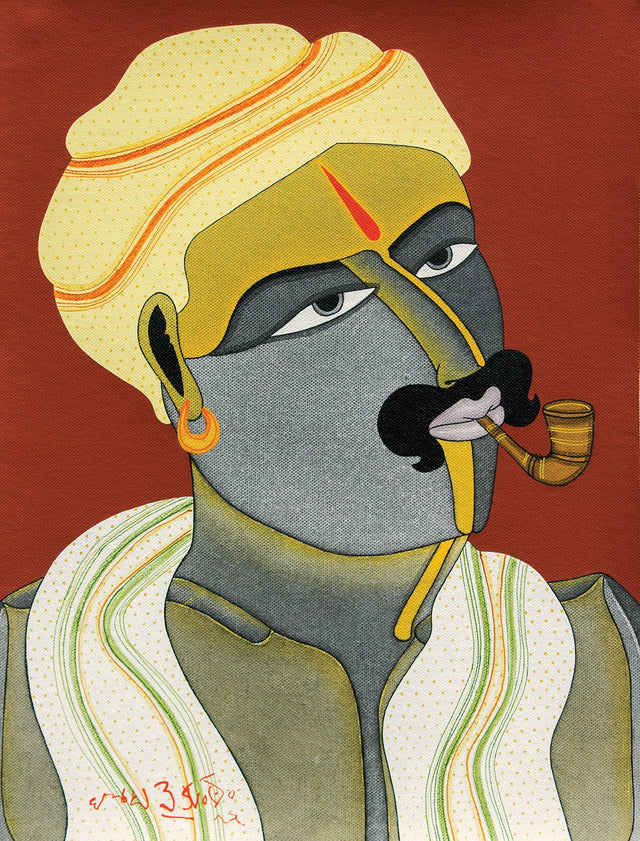 Untitled 1|T. Vaikuntam- Acrylic on Canvas, 2015, 16 x 12 inches