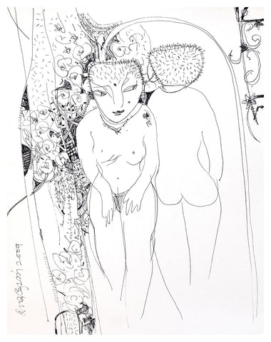 Beside of my Dream 15|A. Vasudevan- Pen and Ink on Board, 2013, 9 x 7.5 inches