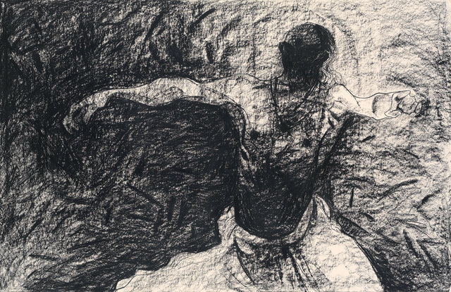 Performer 293|S. Mark Rathinaraj- Charcoal on Board, , 22.5 x 35 inches