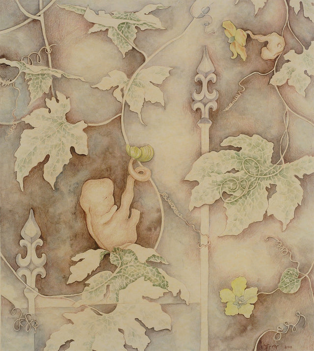 Blooming Life|Sweta Chandra- Water Color on Paper, 2010, 15 x 13.5 inches