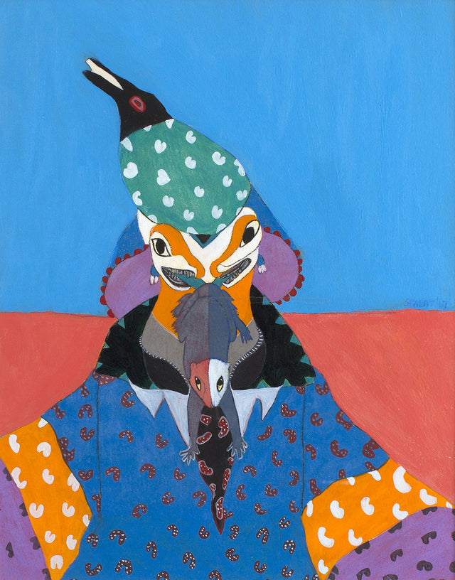 The Clown|Shantala Palat- Watercolor Acrylic Gouache, 2017, 20 x 17 inches