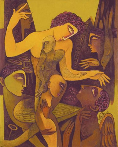 Fantasia 36|Ram Viranjan- Acrylic on Canvas, 2010, 30 x 24 inches