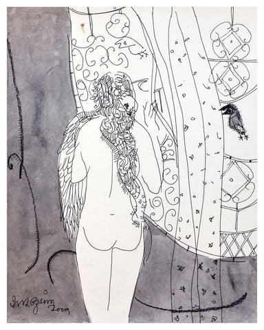 Beside of my Dream 16|A. Vasudevan- Pen and Ink on Board, 2013, 9 x 7.5 inches