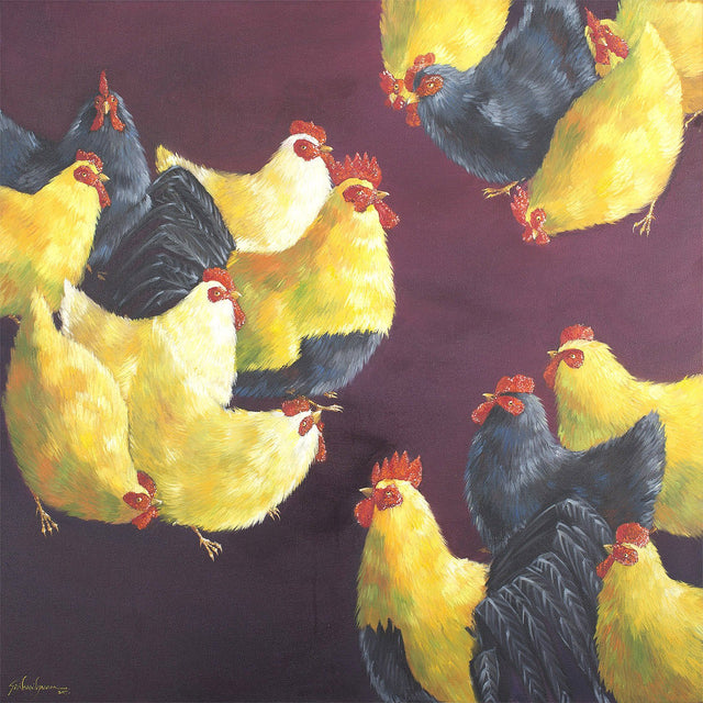 Gang War|G. Srihari- Oil on Canvas, 2017, 36 x 36 inches