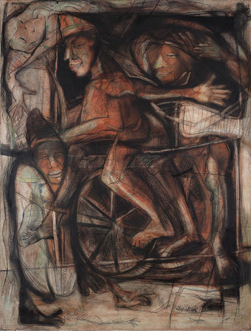 Untitled 49|Tapati Sarkar- Acrylic on Canvas, 2004, 48 x 36 inches
