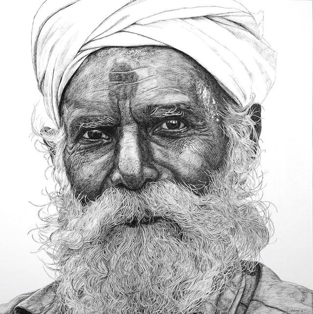 Acquaintance 6|Antony Raj- Pen and Ink on Board, 2014, 29 x 29 inches