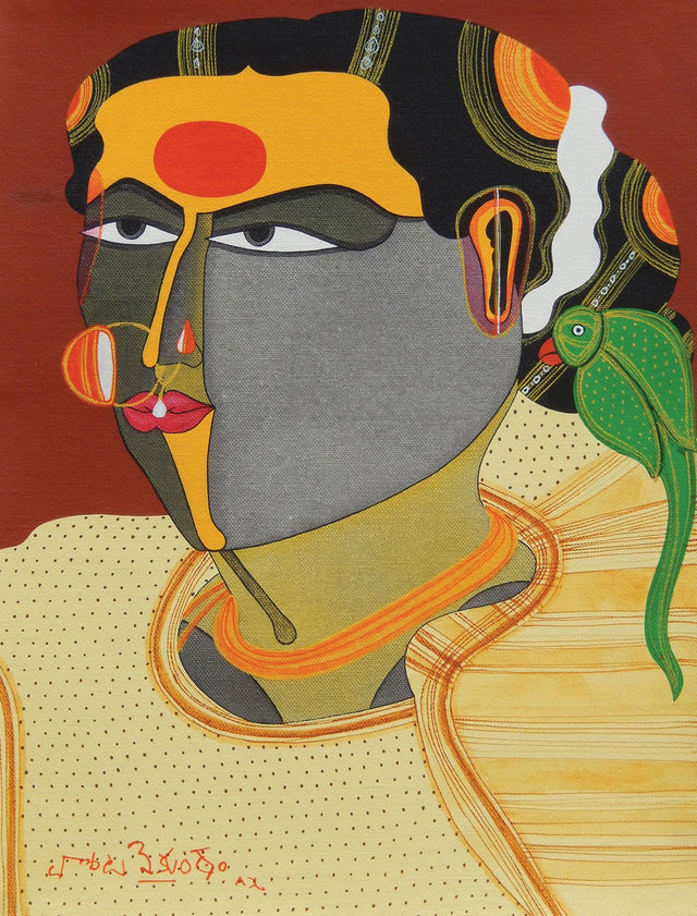Untitled 2|T. Vaikuntam- Acrylic on Canvas, 2015, 16 x 12 inches