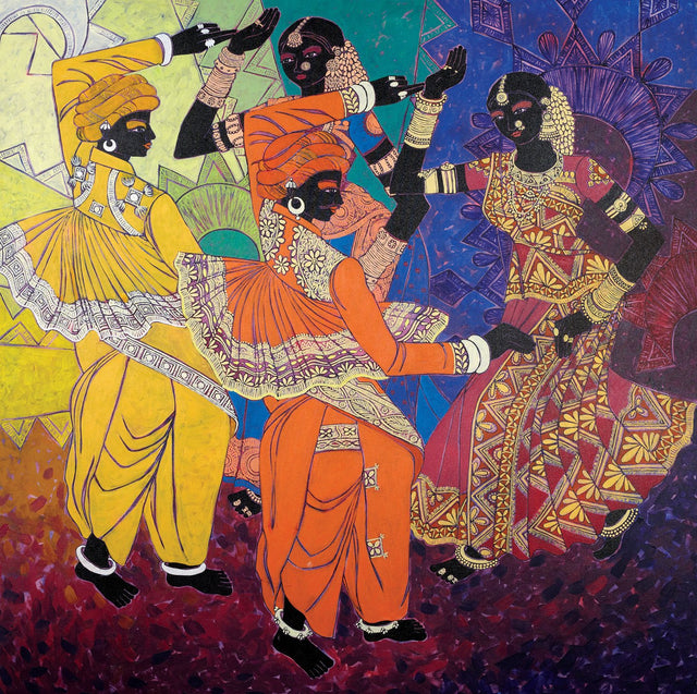 Rhythm of the Seasons 18|Anuradha Thakur- Acrylic on Canvas, 2012, 48 x 48 inches